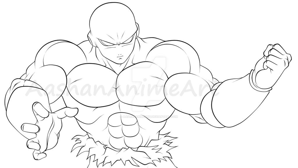 Line Art Vs Sketch : Jiren line art by aashananimeart on deviantart