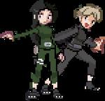 Seishi and Yuka Sprites by KusaNin