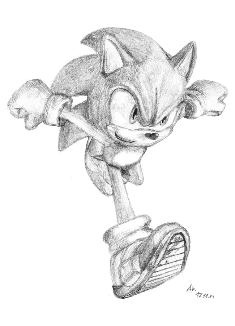 sonic unleashed artwork hand drawn by realsonicspeed on deviantart