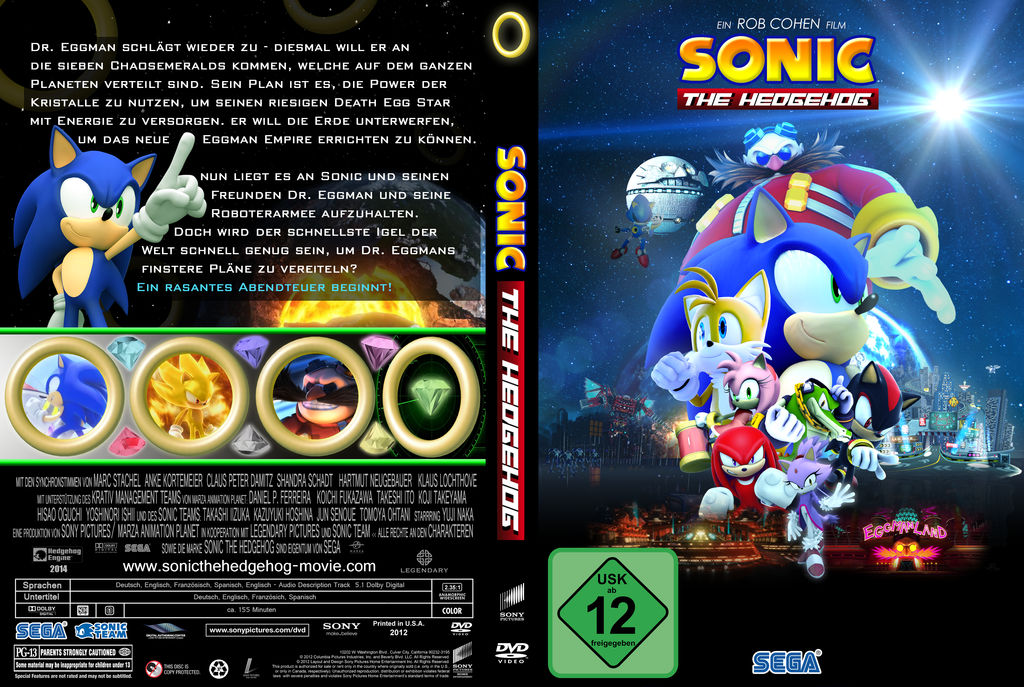 Sonic The Hedgehog Movie Dvd Cover By Realsonicspeed On Deviantart