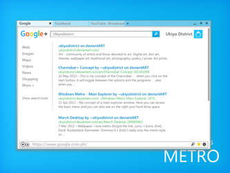 Metro Browser + Google Concept by ukiyodistrict