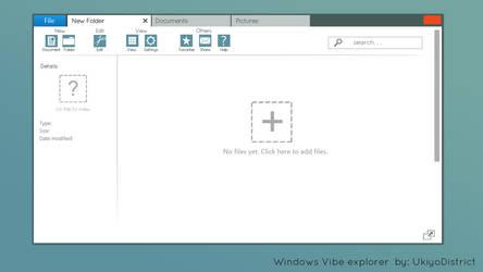 Windows Vibe Concept + Ribbon by ukiyodistrict