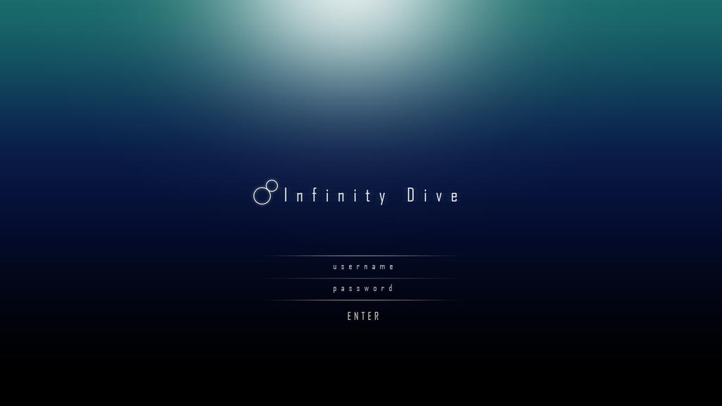 Infinity dive a game login design concept by for Deviantart login