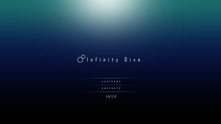 Infinity Dive ( a game login design concept ) by ukiyodistrict