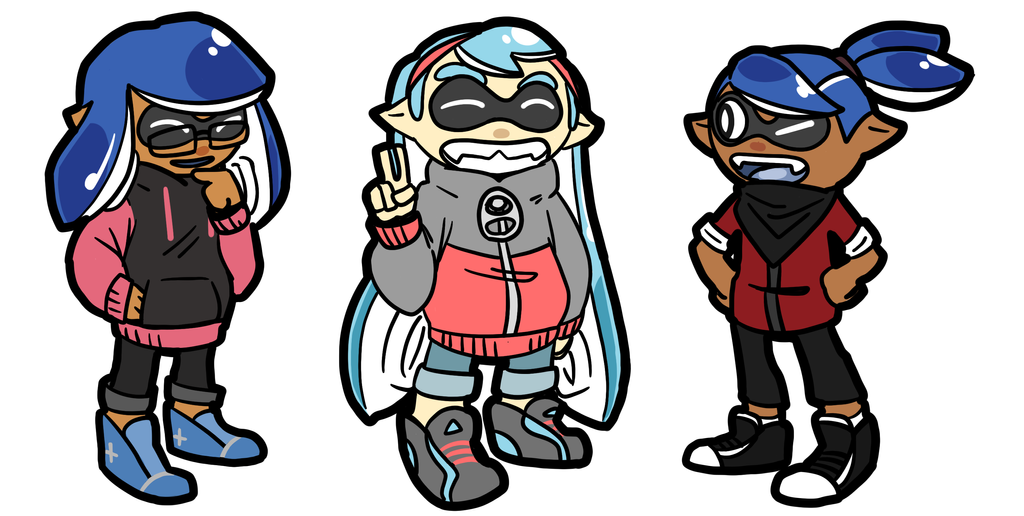 squids by ShinyStrawberry