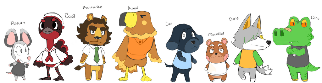 OC Animal Crossing Villagers by ShinyStrawberry