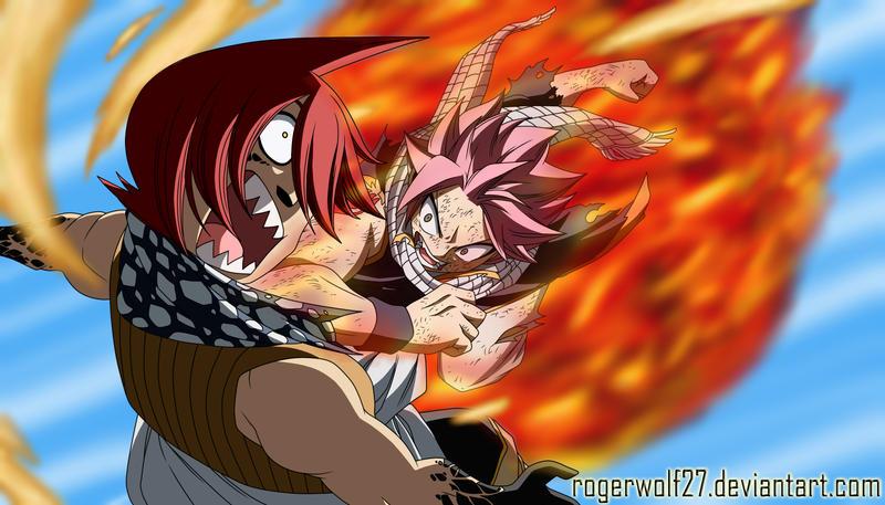 Natsu VS Jackal - Fairy Tail 361 by rogerwolf27