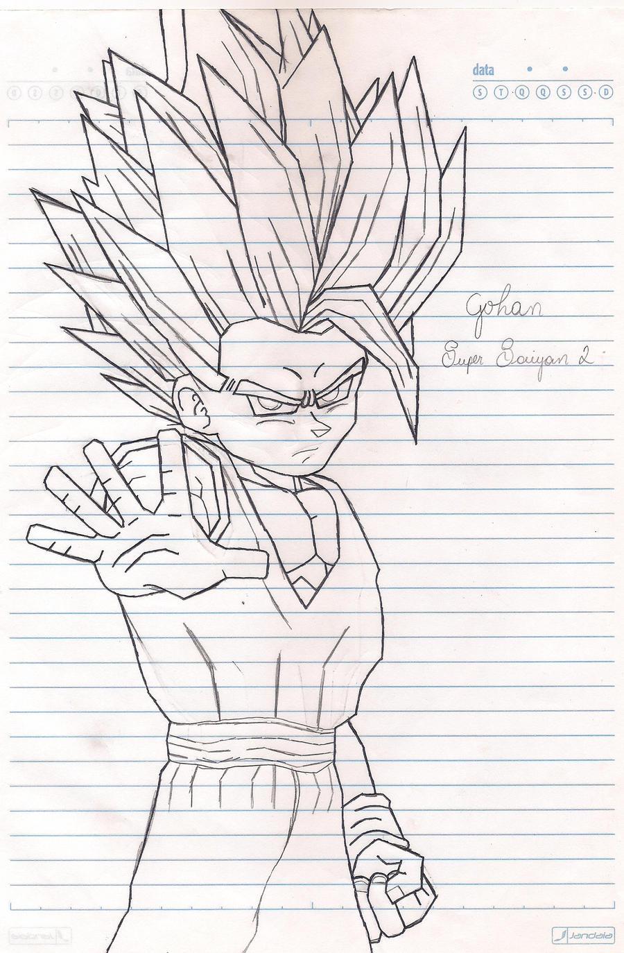 Gohan Super Saiyan 2 by Gokusuper on DeviantArt