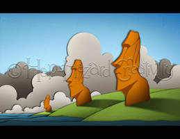 Moai by kaerless