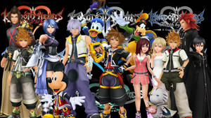 Kingdom Hearts Saga: Group wallpaper