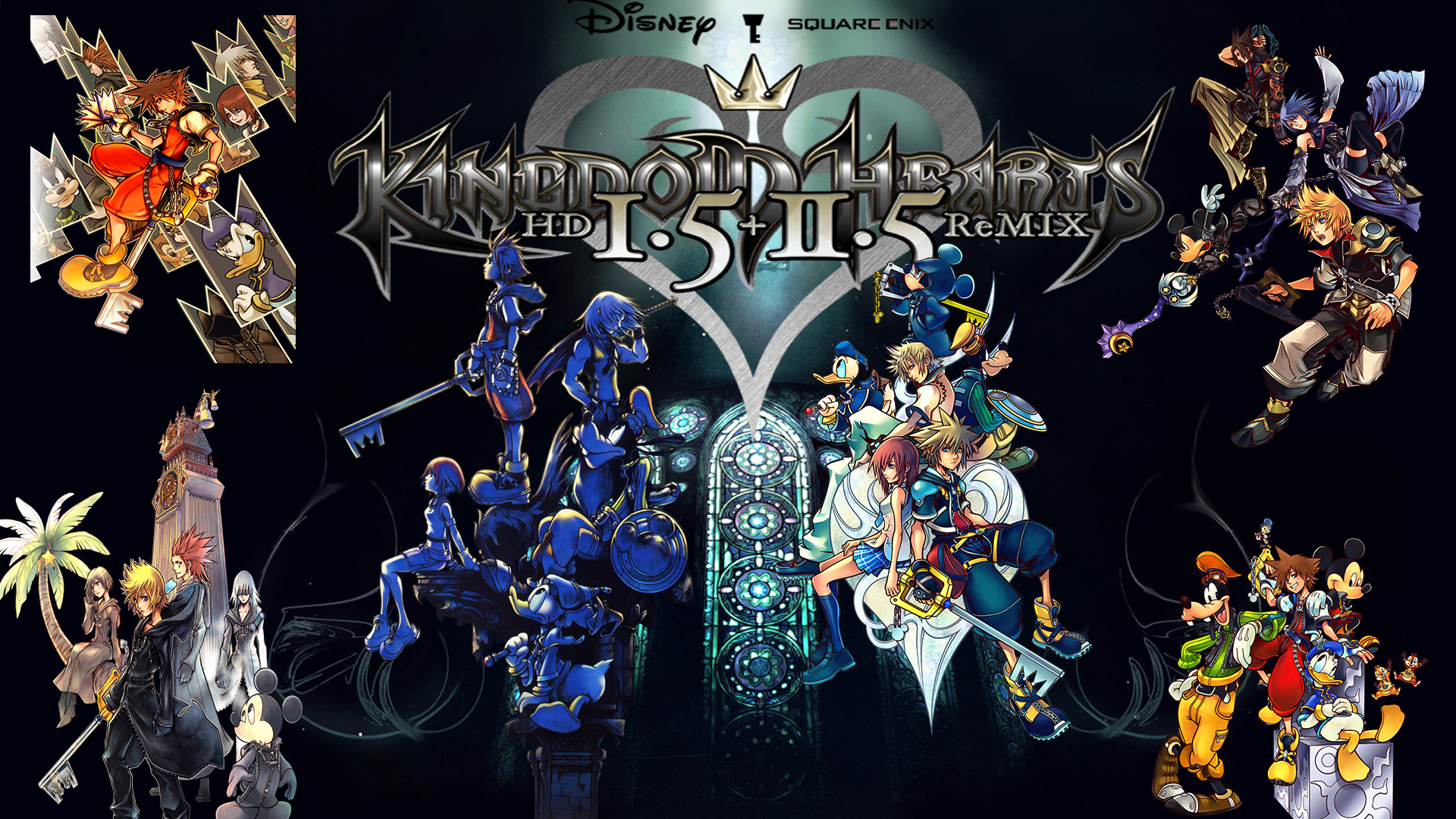 Kingdom Hearts 1 5 2 5 Hd Remix Wallpaper By The Dark Mamba 995