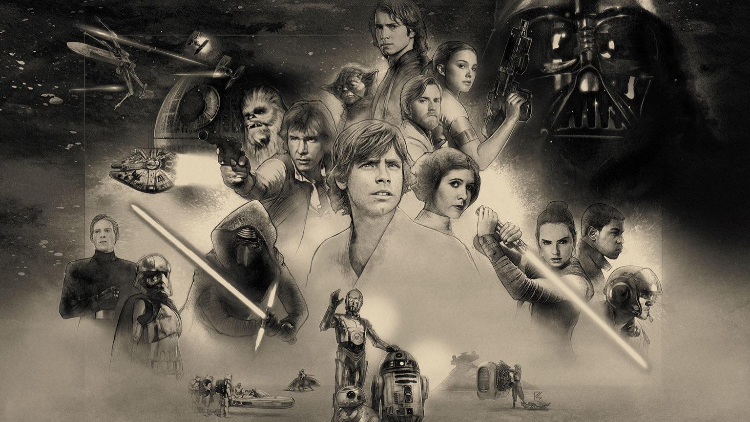 Star Wars 40th Anniversary Celebration Wallpaper By The Dark Mamba