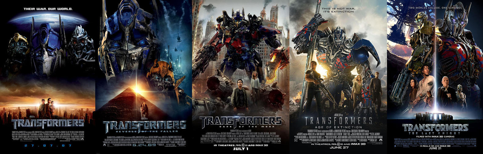 transformers 1-5 cinematic universe postersthe-dark-mamba-995 on