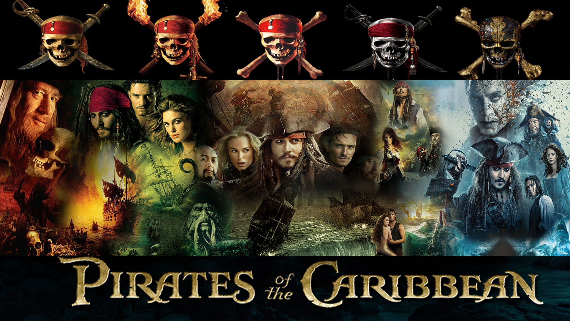 Pirates Of The Caribbean 1 5 Series Wallpaper By The Dark Mamba