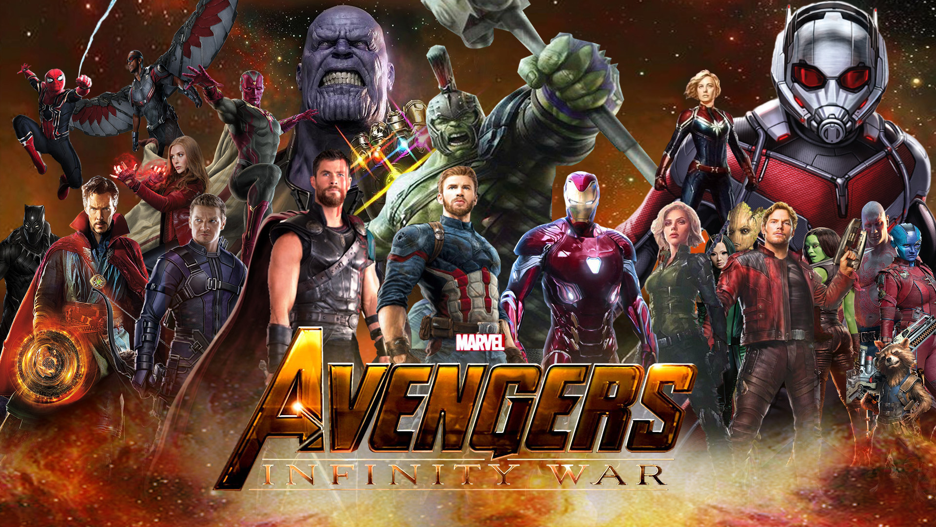Avengers: Infinity War Wallpaper by The