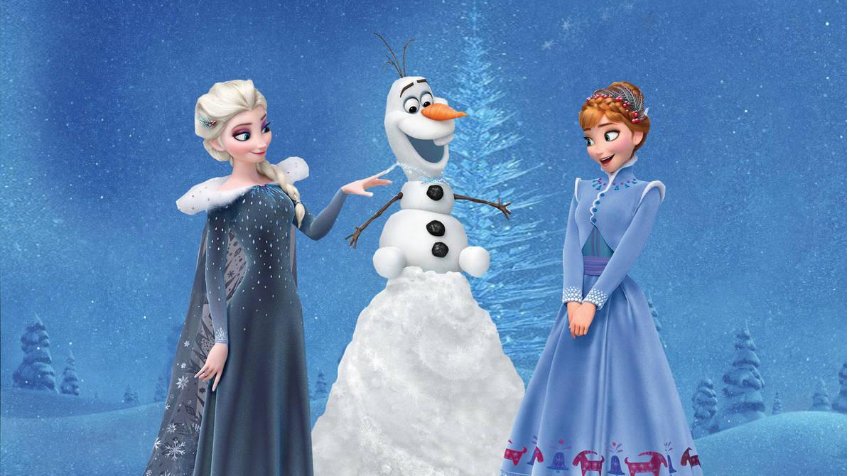 Frozen Christmas.Frozen Christmas Wallpaper By The Dark Mamba 995 On Deviantart