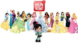 Wreck-It Ralph 2: Disney Princess Wallpaper