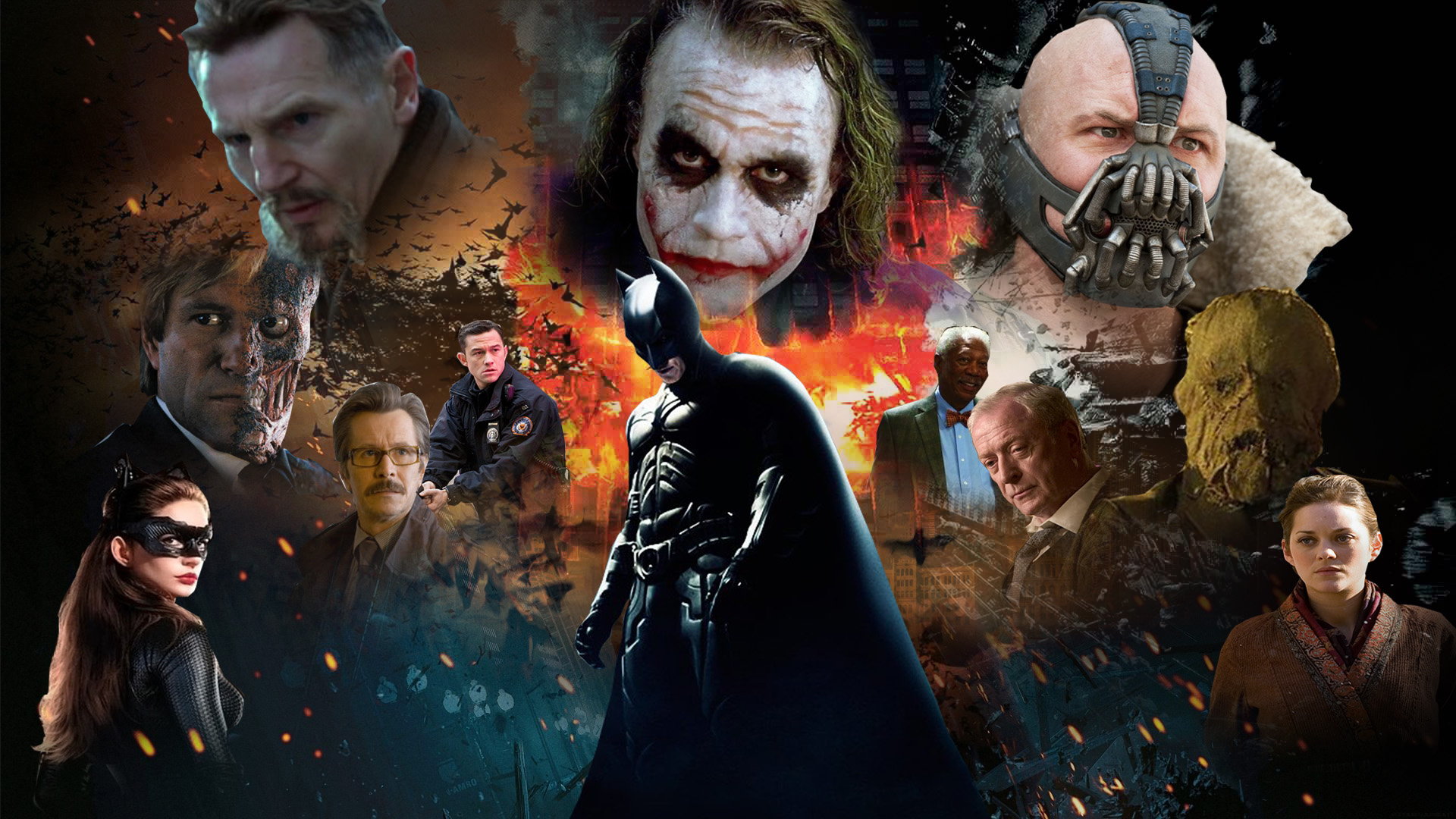 The Dark Knight Trilogy Wallpaper By The Dark Mamba 995 On Deviantart