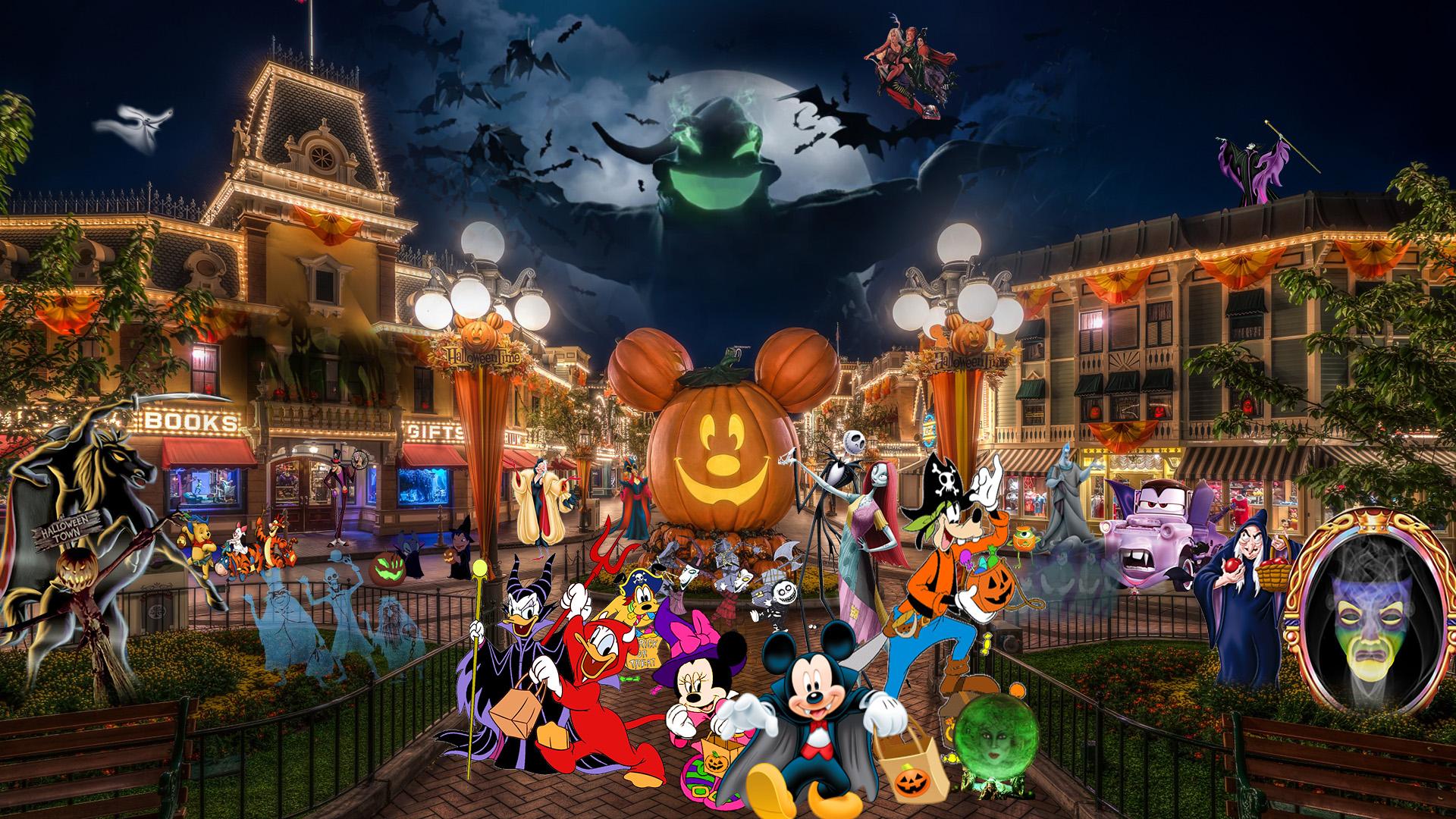 Disneyland: Halloween Wallpaper by The-Dark-Mamba-995 on ...