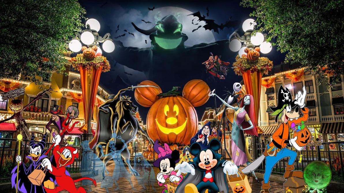 disneyland decorated for halloween. disneyland halloween time and