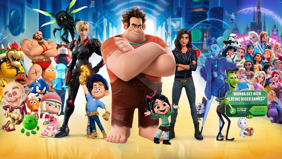 Wreck-It Ralph 1 and 2 Wallpaper by The-Dark-Mamba-995 ...
