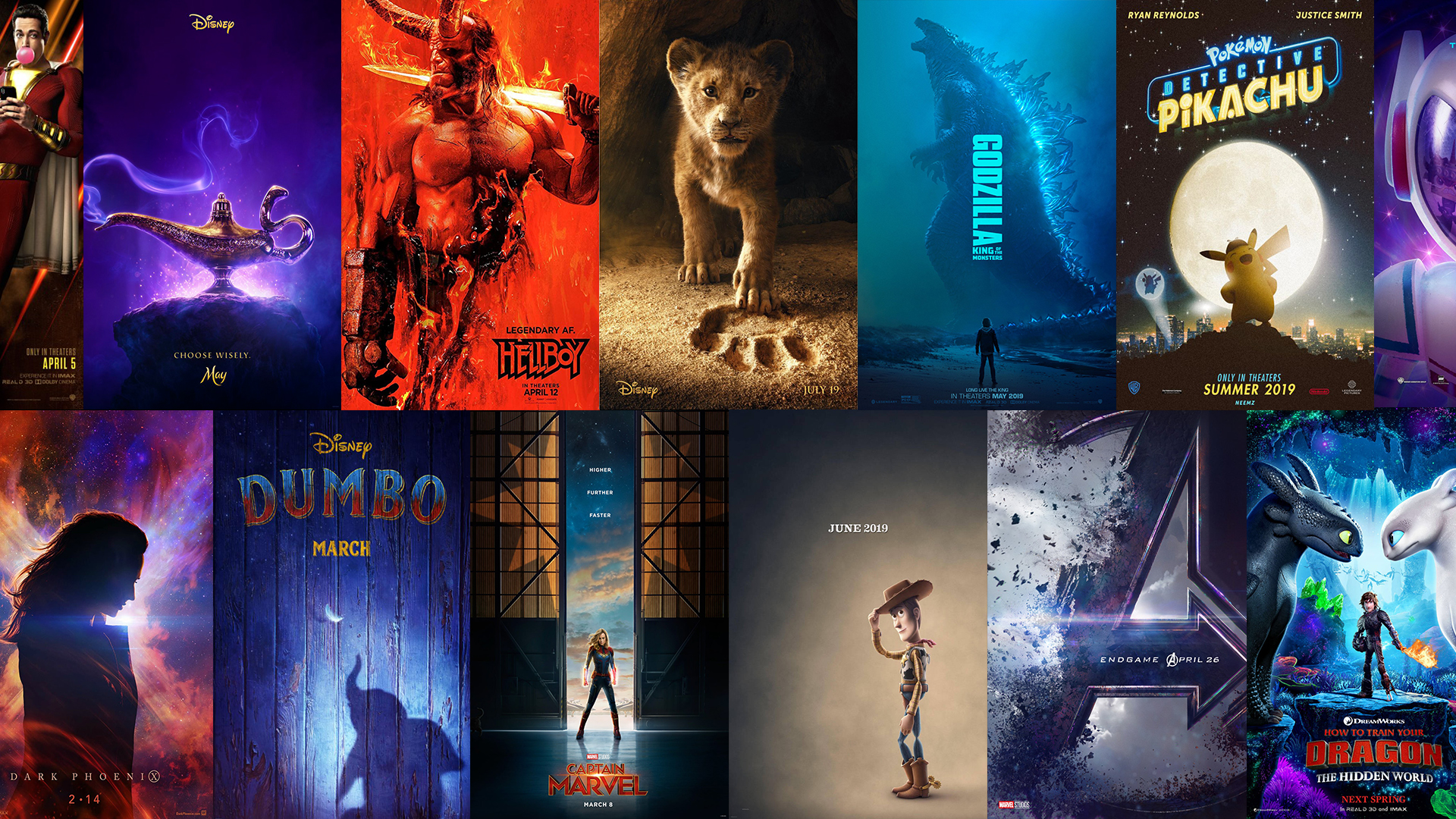 2019 Upcoming Movie Posters