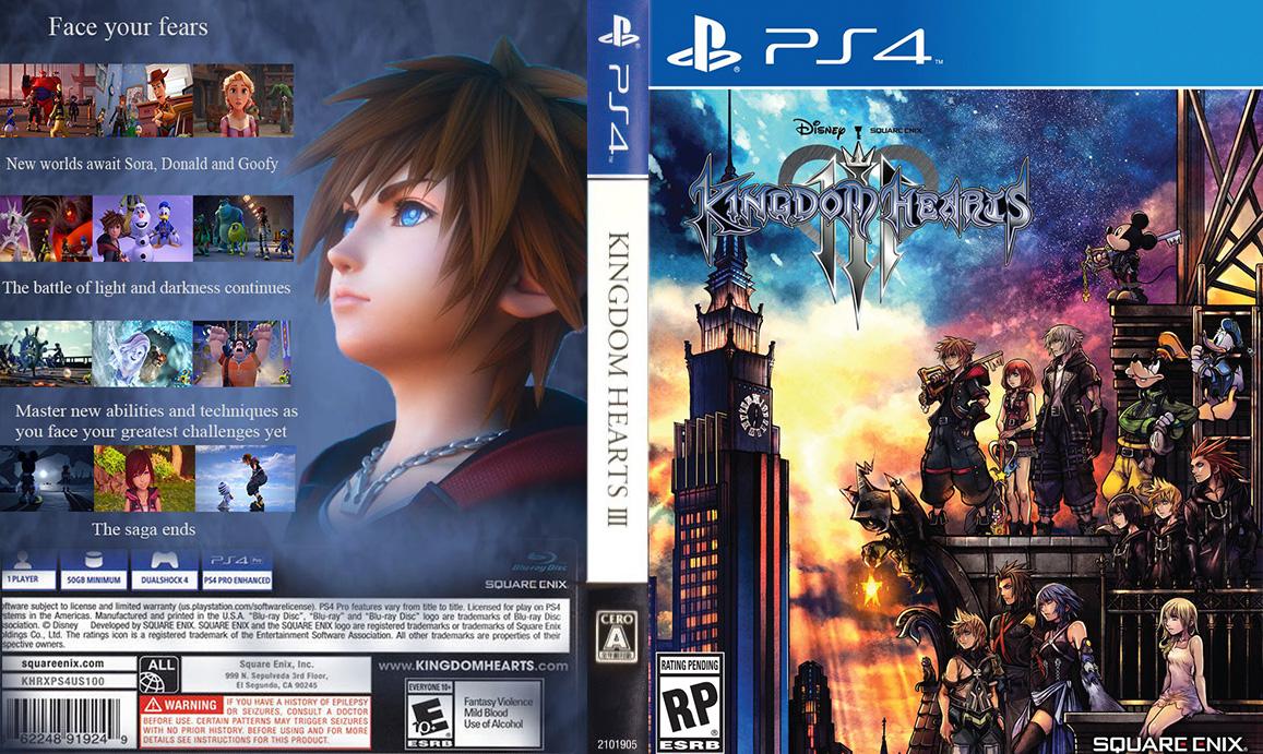 Kingdom Hearts III Full cover concept by The-Dark-Mamba-995