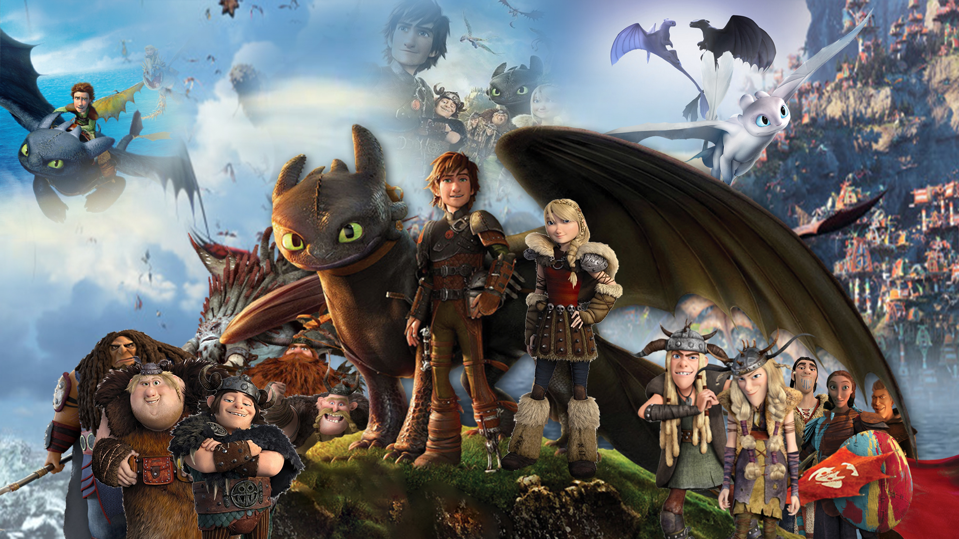How To Train Your Dragon Trilogy Wallpaper by The-Dark ...