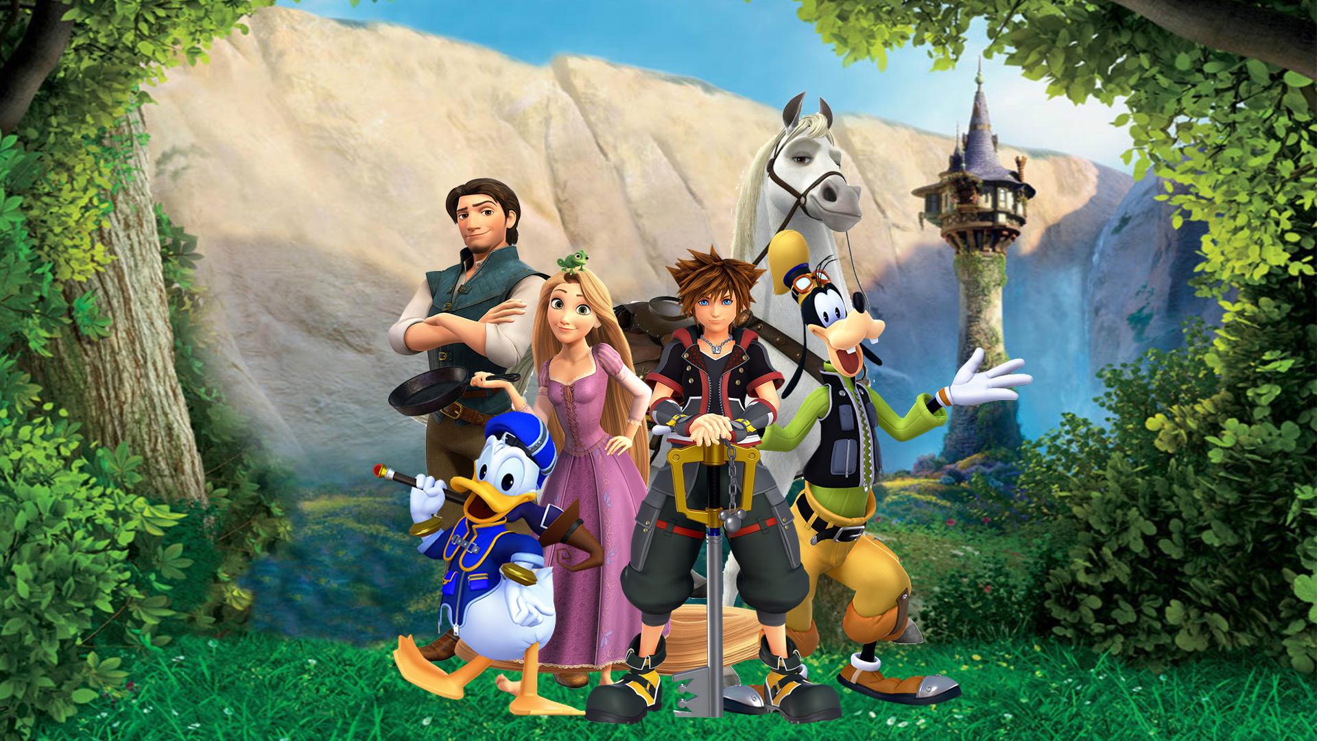 Kingdom Hearts III -Tangled Wallpaper