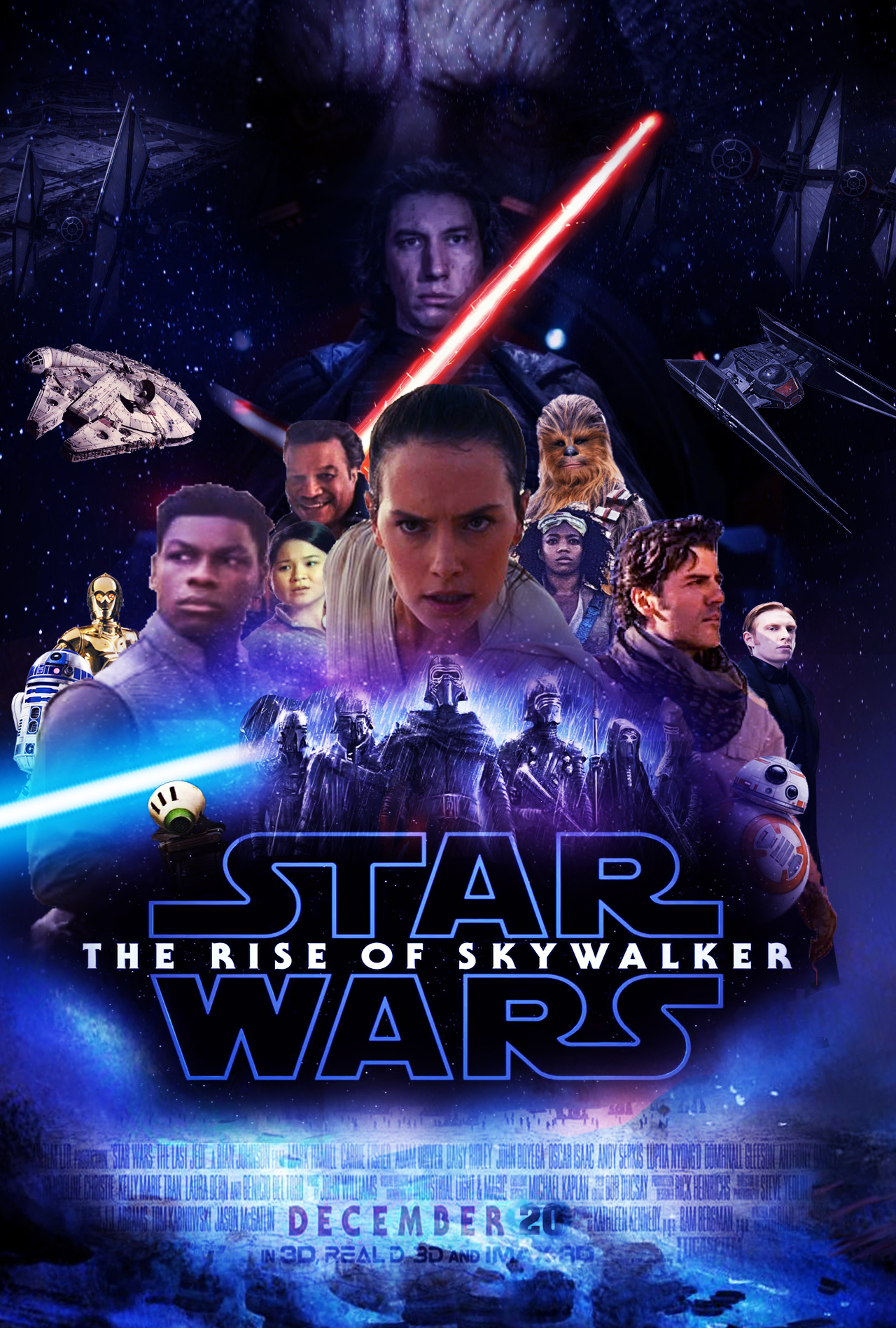 Star Wars The Rise Of Skywalker Poster By The Dark Mamba 995 On