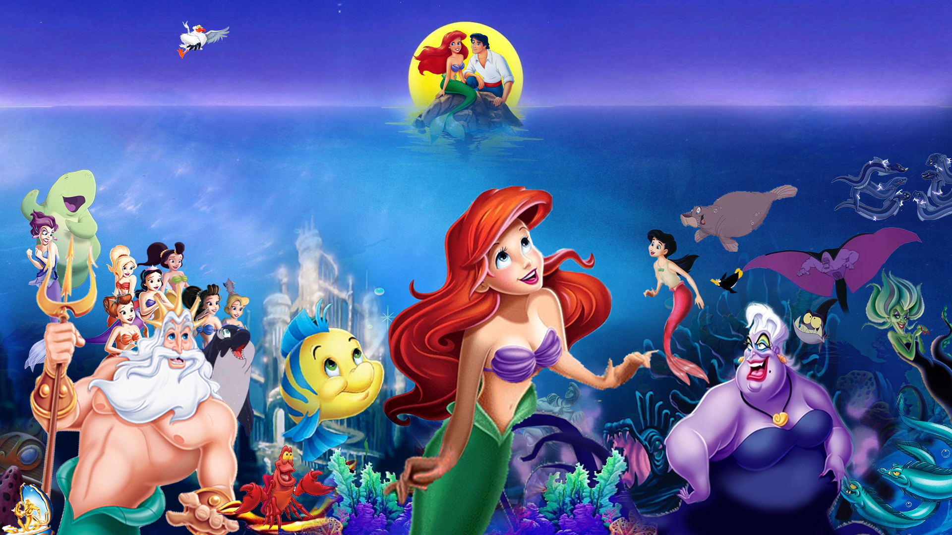 The Little Mermaid 30th Anniversary Wallpaper By The Dark