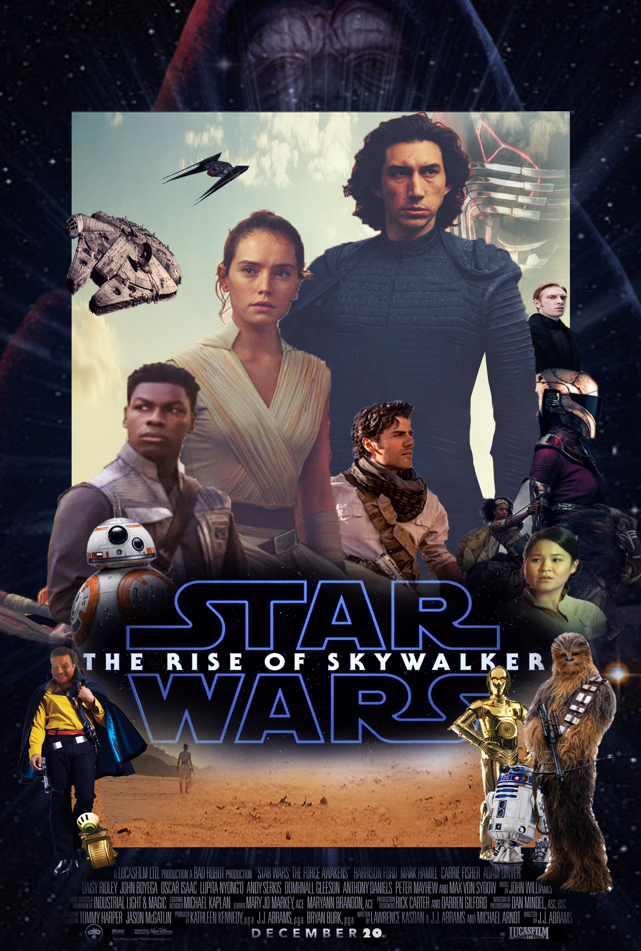 Star Wars The Rise Of Skywalker Poster By Thekingblader995 On Deviantart