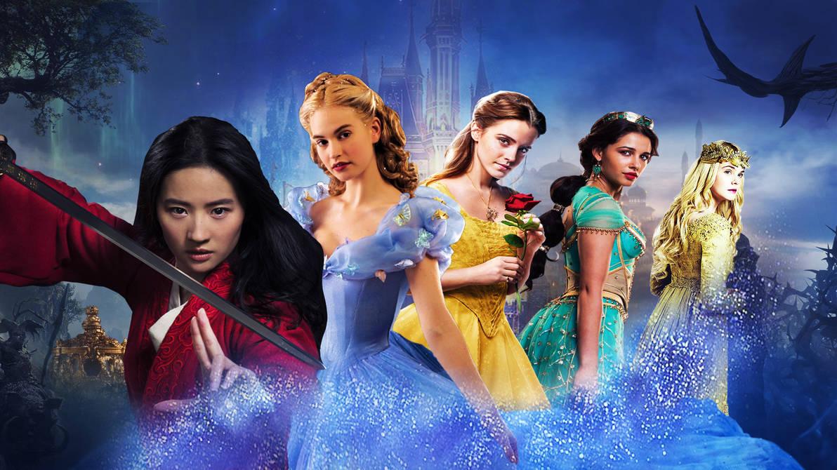 Live Action Disney Princess Wallpaper By Thekingblader995 On Deviantart