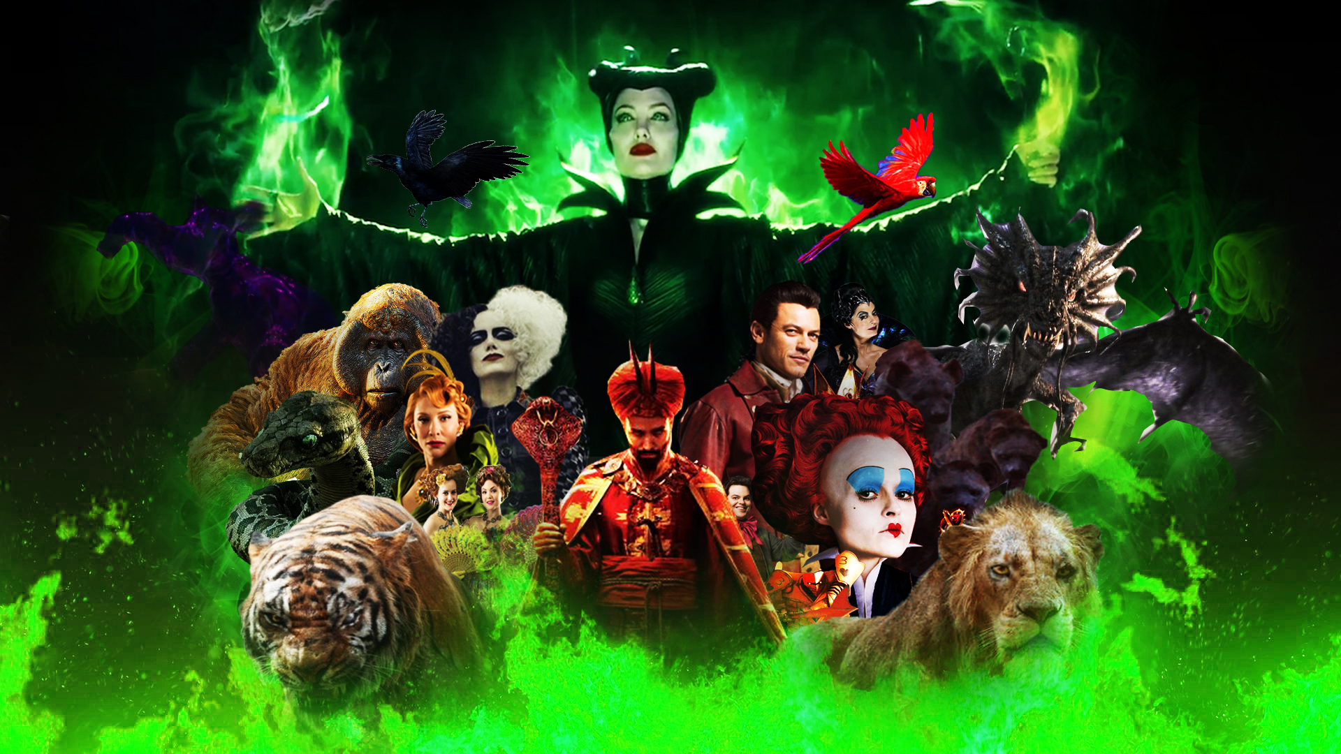 Disney Villains Wallpaper Live Action By The Dark Mamba 995 On