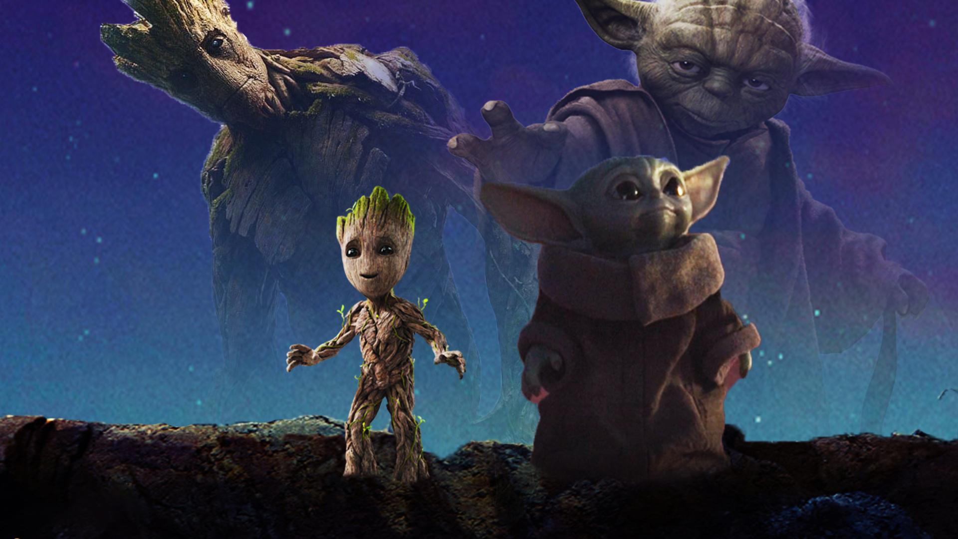 Baby Yoda And Baby Groot Wallpaper By The Dark Mamba 995 On