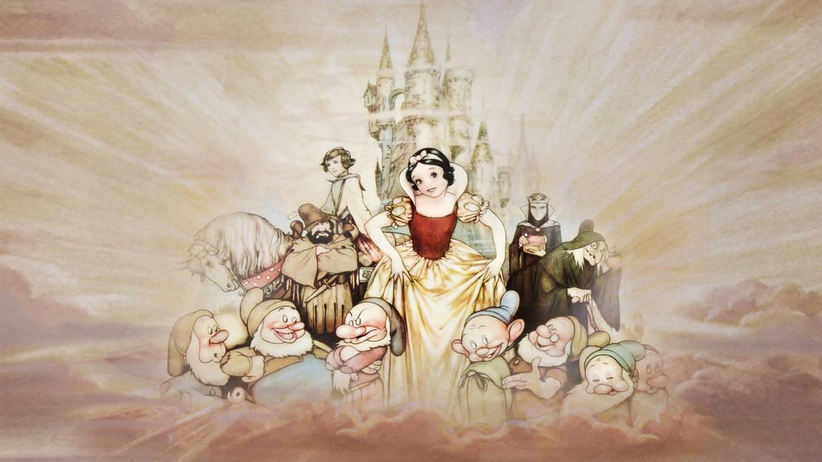 Snow White And The Seven Dwarfs Wallpaper By The Dark Mamba