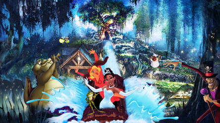 Princess and the Frog | Splash Mountain Wallpaper