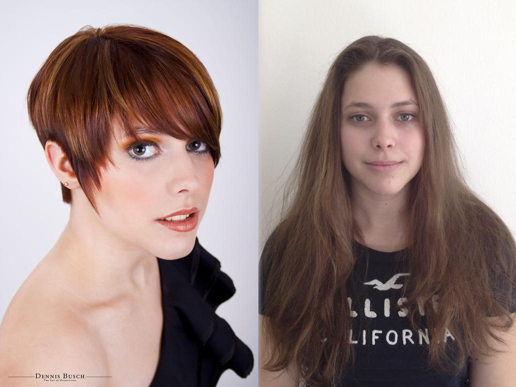 Isabell Before And After Haircut By 42pixel On Deviantart