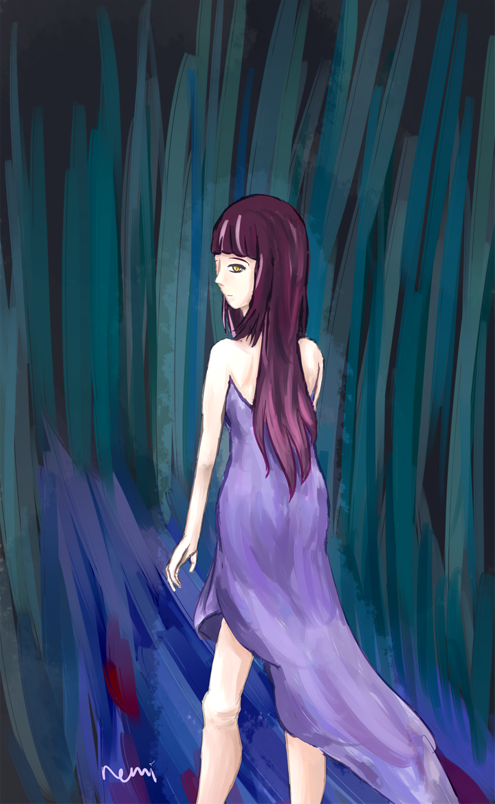 girl in the forest by remilet