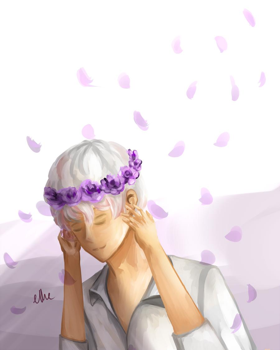 Lavender roses by remilet