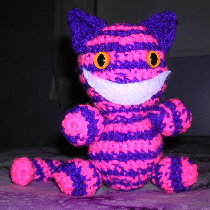 Pink and Purple Cheshire Cat by FuzzyViper