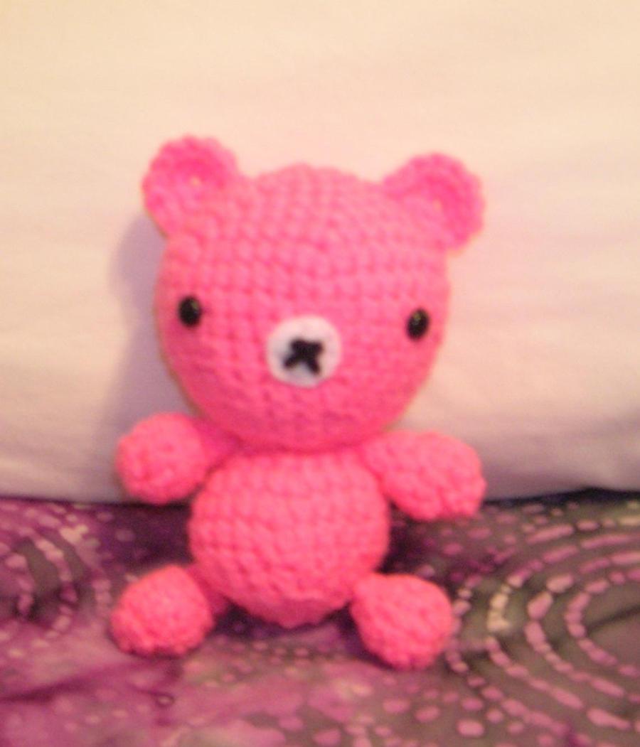 Amigurumi Pink Bear : Amigurumi Pink Bear by FuzzyViper on deviantART