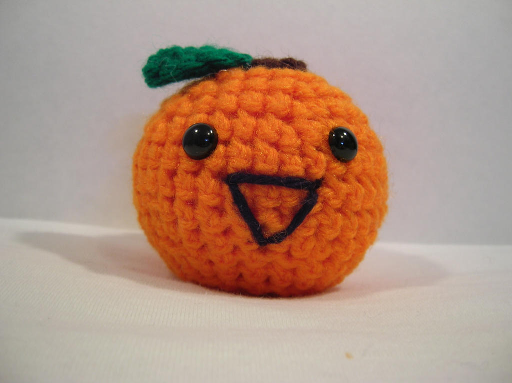 Peelable Orange Amigurumi : Amigurumi Orange Revisited by FuzzyViper on deviantART