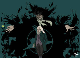Jonathan Strange and Mr Norrell (color) by Tetiilustracion