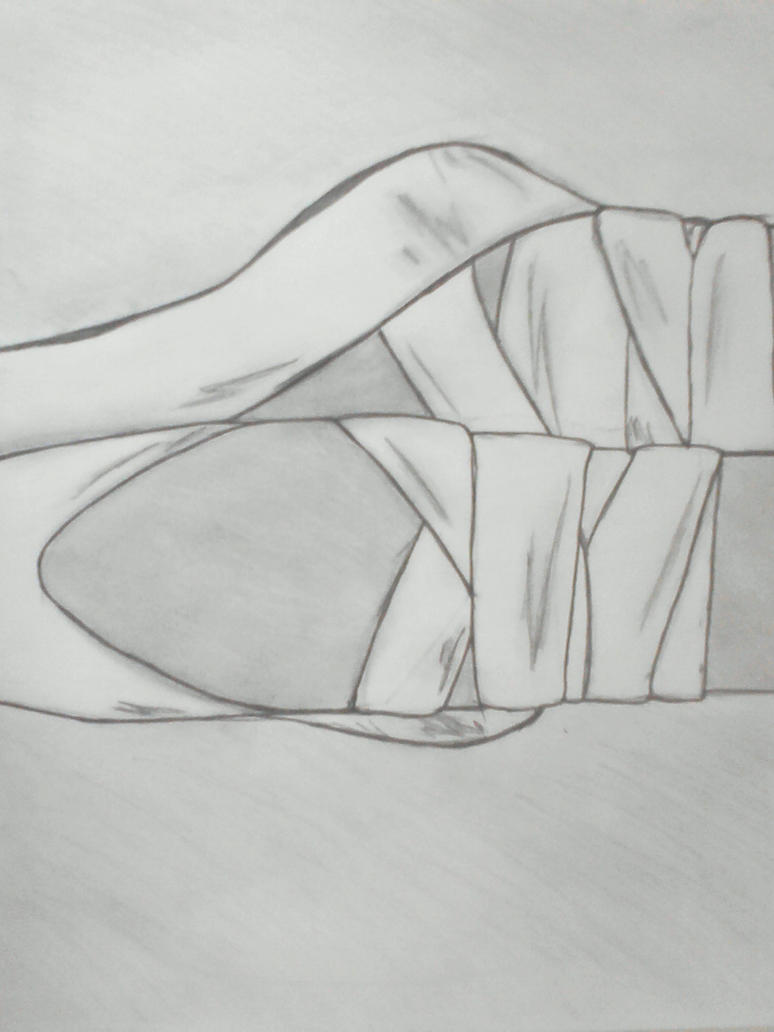 ballet shoes drawing easy - photo #43