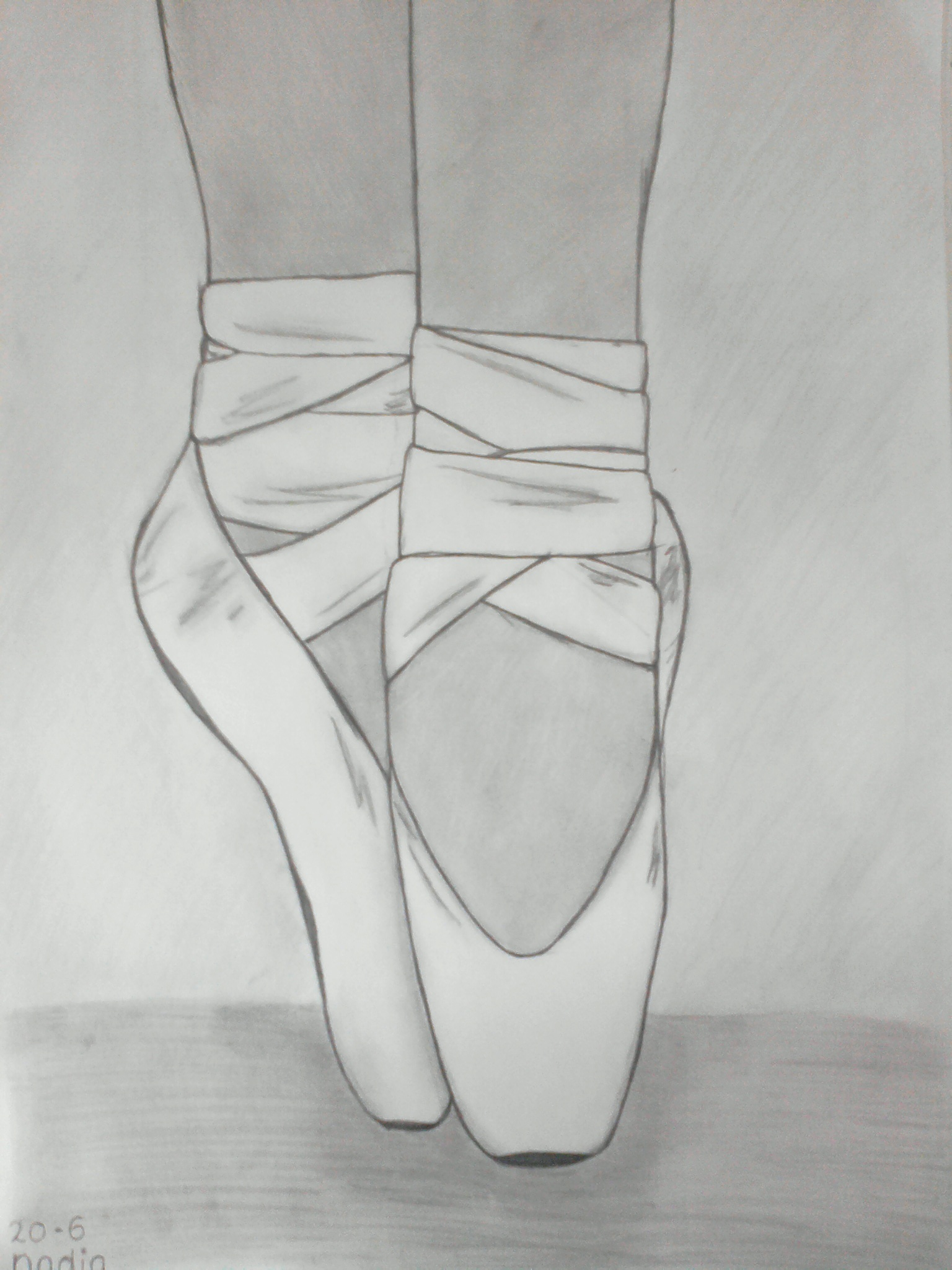 ballet shoes drawing easy - photo #29