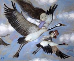 The return of the cranes by Grzegorz Ptak by GrzegorzPtakArt