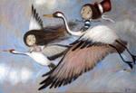 The return of the cranes II by Grzegorz Ptak