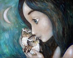 Little owls by Grzegorz Ptak by GrzegorzPtakArt