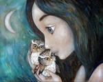 Little owls by Grzegorz Ptak